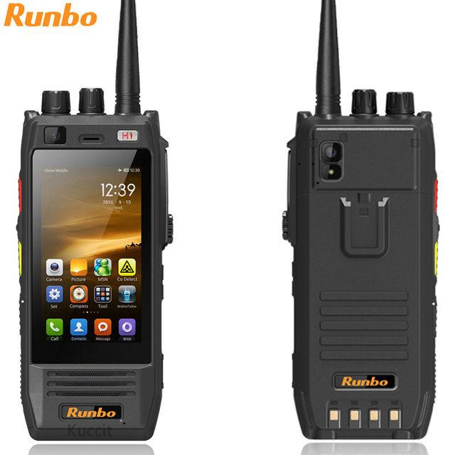 Original Runbo H1 IP67 resistente impermeable teléfono Android DMR Radio VHF UHF PTT Walkie Talkie Smarpthone 4G LTE 6000MAH MTK6735 GPS