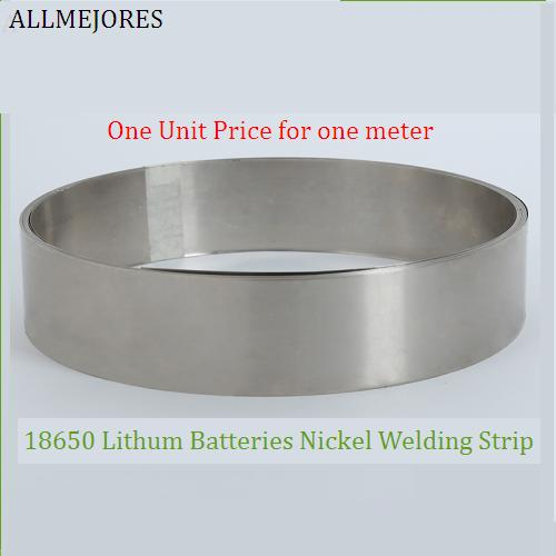 ALLMEJORES Battery Nickel Strip  Nickel Welding Wire For 18650 Lithium Battery Pack Connection Thickness 0.1mm-0.15mm