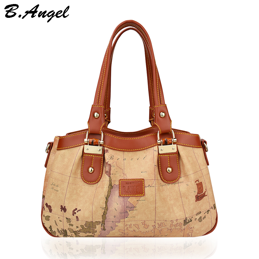 ФОТО Vintage world map women bag women messenger bags luxury handbags women bags designer leather handbags bags women shoulder bags