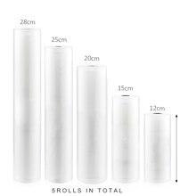 Eworld Borse Contenitore Casa di vuoto di Confezionamento Sottovuoto Rolls Vacuum il Sacchetto di Plastica Sealer Alimentare Saver 12 + 17 + 20 + 25 + 28 centimetri * 500 centimetri 5 Rolls/Lot