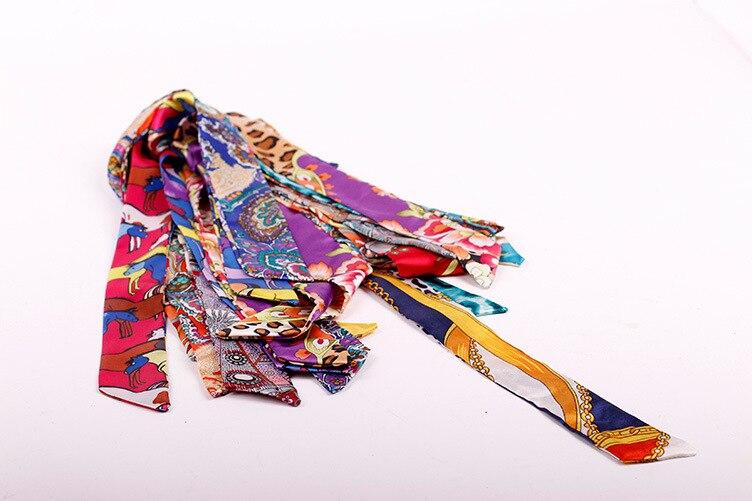 Camelia Tiny Fashion Silk Scarves For Designer Inspired Bags