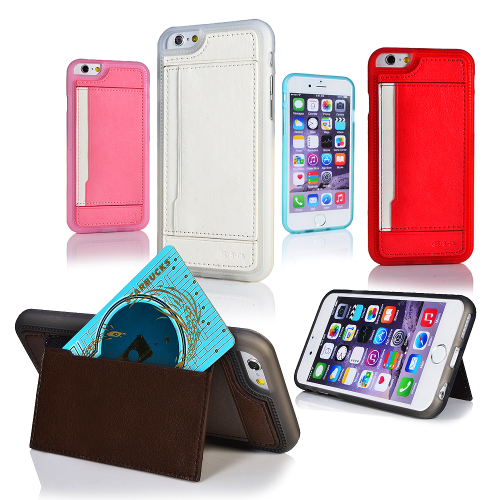 S-CH Wallet Card Holder Stand Pu Leather Fitted Case Skin For Apple iPhone 5 5S 5 Color visa