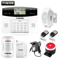 Fuers G2 GSM Alarm System With Curtain Motion Sensor Dual Network PSTN GSM Wireless Home Burglar