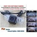 Trajetória do carro inteligente faixas assistan hd visão ccd noite retrovisor do carro da câmera de estacionamento para honda accord spirior 2008 ~ 2012
