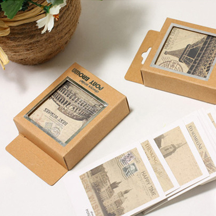 40pcs/lot Mini Vintage Retro Scenery PostCards Lomo Post Greeting Cards For Kids Gifts Free Shipping(China)