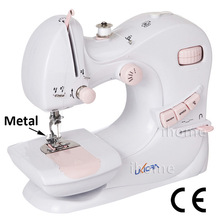 Домашняя электрическая швейная машина Двойная игла и обратная 5 стежков швейный светодиодный светильник детская швейная машина CE бытовая