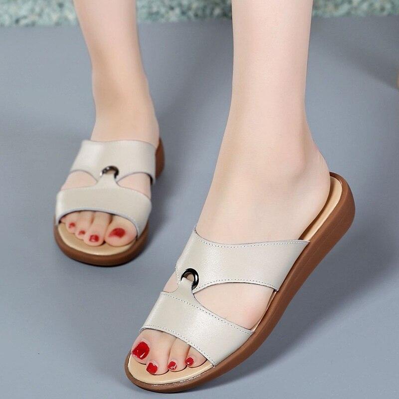 Летняя модная женская обувь Шлепанцы снаружи Для женщин тапочки удобные шлепанцы женские босоножки Дамская пляжная обувь