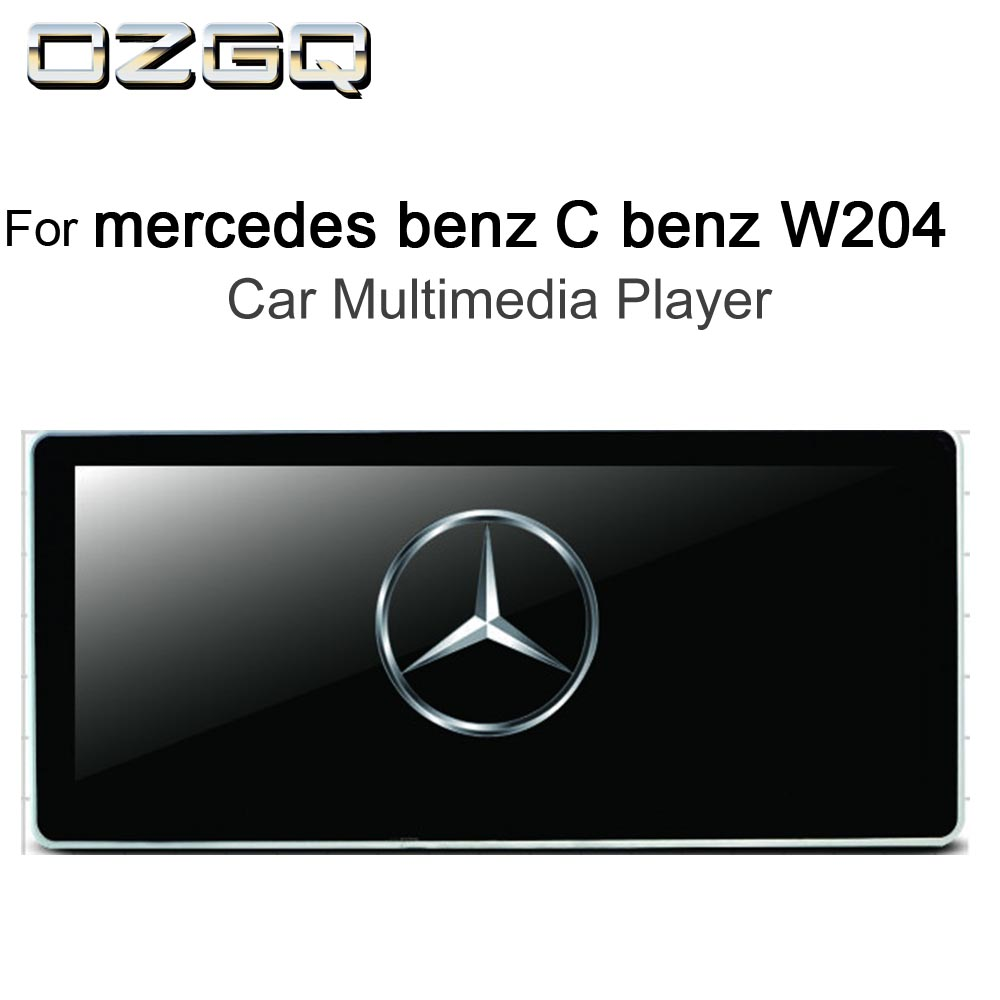 OZGQ 10.25 inch <font><b>Android</b></font> IPS Screen Car Multimedia Player GPS Headunit <font><b>Autoradio</b></font> Navigation For 2012-2014 <font><b>Mercedes</b></font> benz C200 <font><b>w204</b></font> image