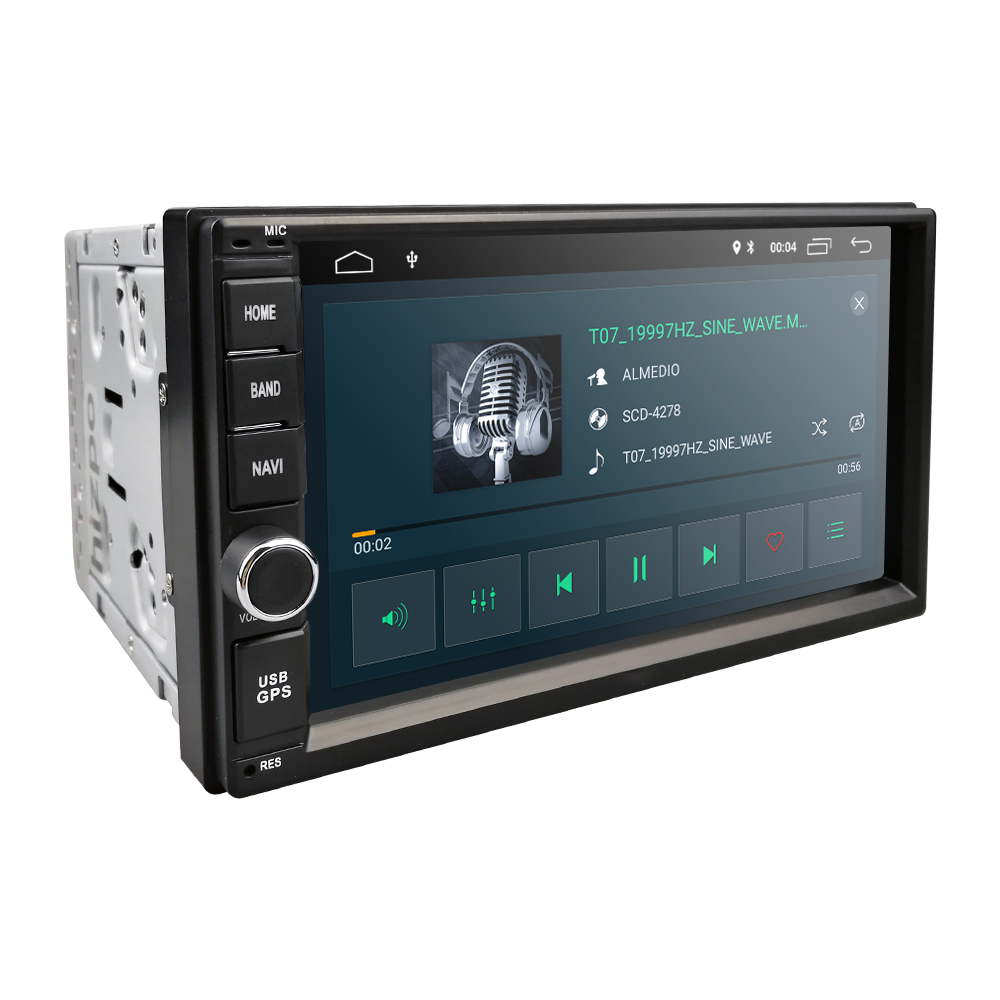 Image 3 - 2G RAM Android 9.0 Auto Radio Quad Core 7Inch 2DIN Universal Car NO DVD player GPS Stereo Audio Head unit Support DAB DVR OBD BT-in Car Multimedia Player from Automobiles & Motorcycles