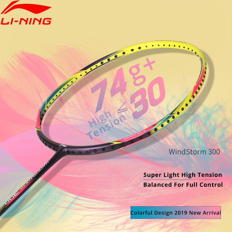 645b32807 Detail Feedback Questions about Li Ning WINDSTORM 300 Ball Control Badminton  Racket Light Weight 74g LiNing Single Sport Rackets AYPP056 ZYF325 on ...