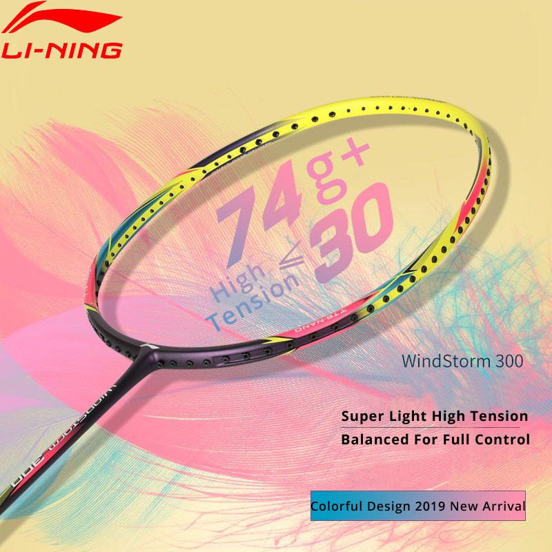 Li-Ning WINDSTORM 300 Ball Control Badminton Racket Light Weight 74g LiNing Single Sport Rackets AYPP056 ZYF325
