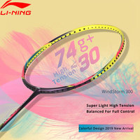 Li Ning WINDSTORM 300 Ball Control Badminton Racket Light Weight 74g LiNing Single Sport Rackets AYPP056 ZYF325