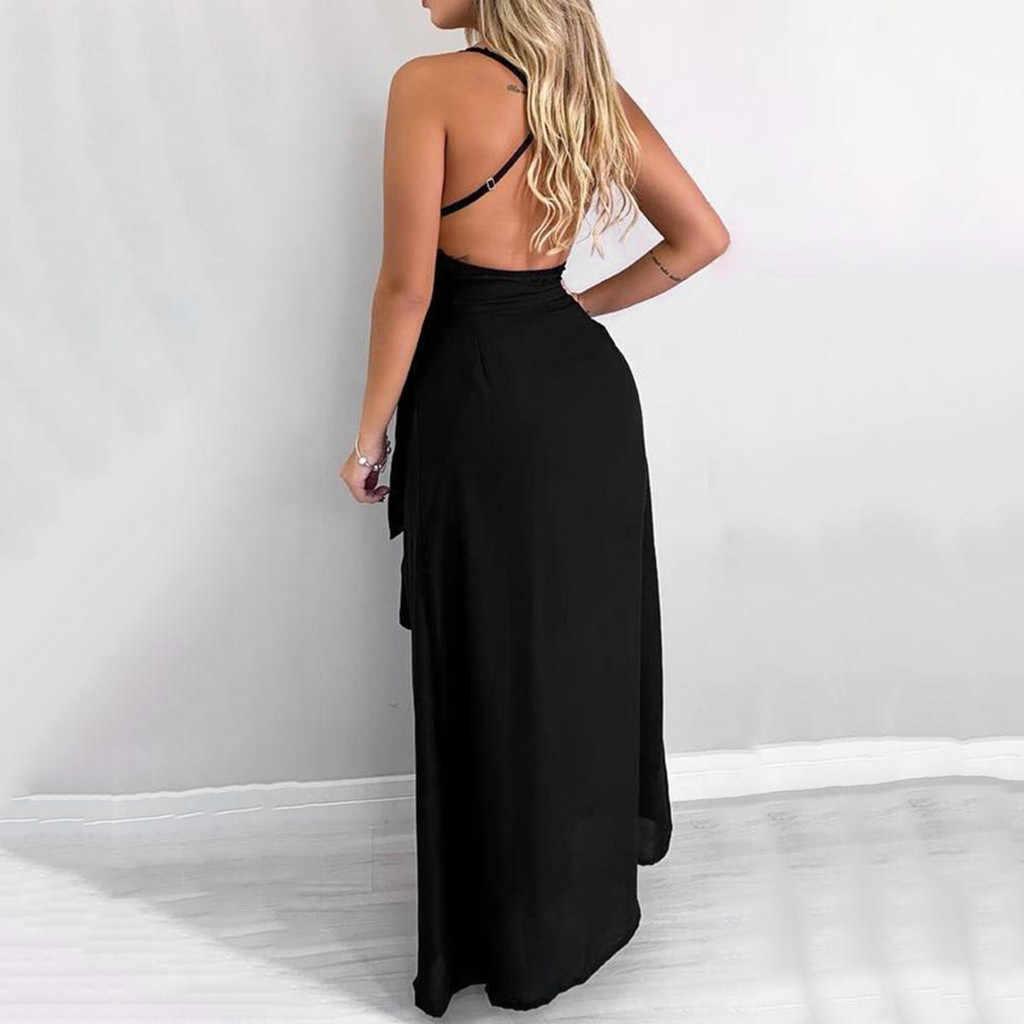 Сексуальное женское летнее длинное платье, модное платье с открытыми плечами и открытой спиной, сексуальные кружевные вечерние платья макси с v-образным вырезом, сарафан для женщин
