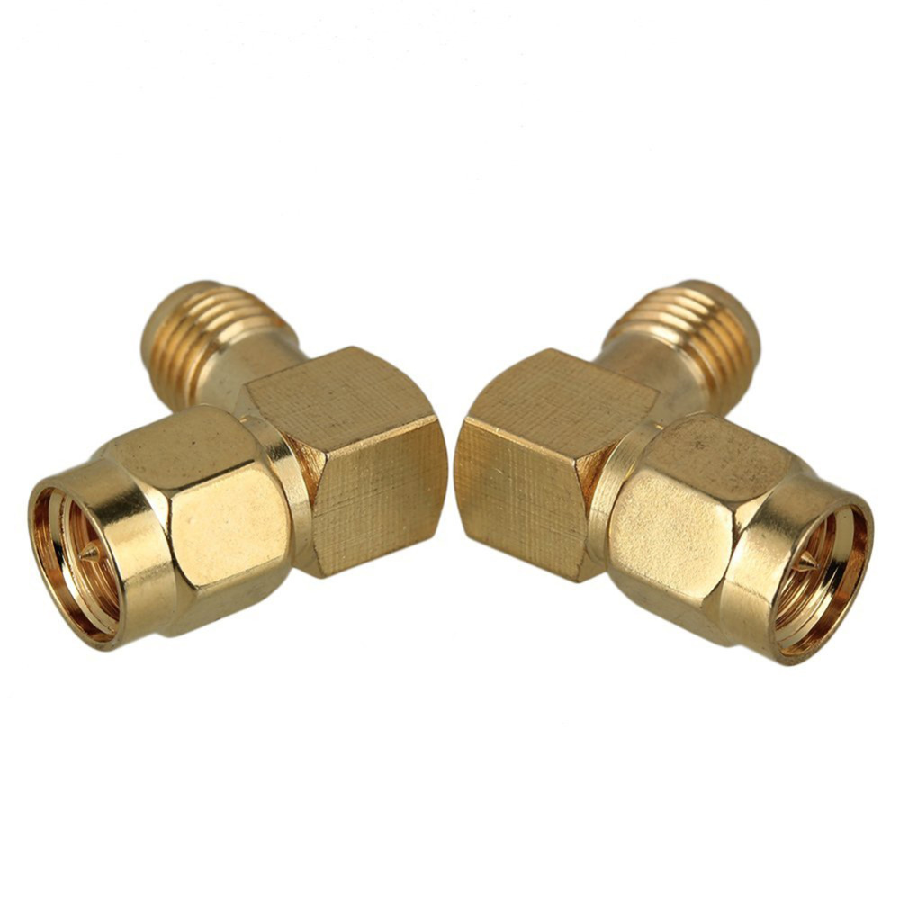 SMA Adapter Right Angle SMA Male Plug to RP SMA Female Plug RF Adapter Connector SMA series RF coaxial coax Assembly areyourshop hot sale 10pcs adapter n jack female to sma male plug rf connector straight ptfe nickel plating gold plating
