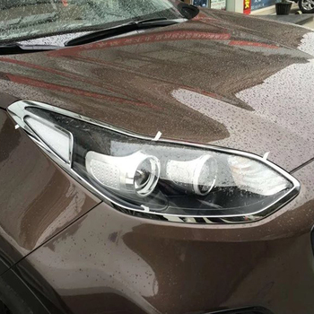 For KIA KX5 2015 2016 2017 ABS Chrome Front Head Light Lamp Frame Decoration Cover Trim Car Accessories