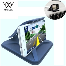 XMXCZKJ Universal Sticky Car Holder Dashboard Desktop Mount Anti Slip mobile phone Stand For Tablet GPS With Spring Loaded Clamp