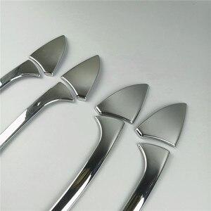 Image 4 - Car Styling Door Handle Frame Decoration Sticker Trim For Mercedes Benz C Class W204 2008 14 Exterior Door Bowl Sequins