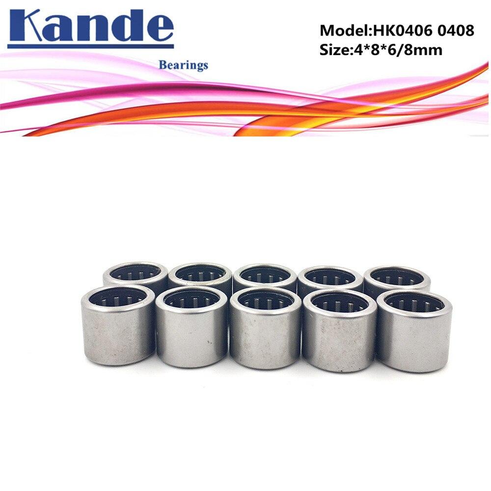 4x8x8 mm HK0408 Needle Roller Bearing Bearings 4*8*8 2 PCS