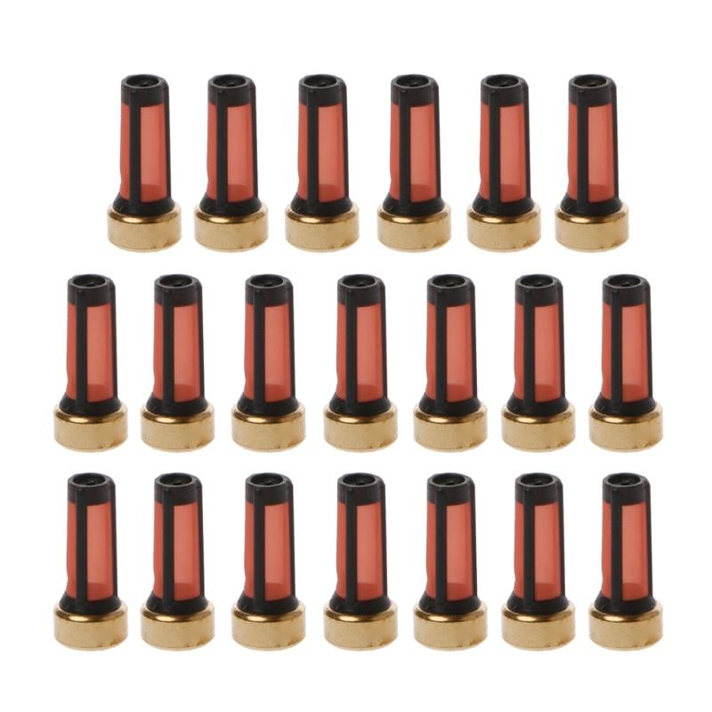 20 sztuk wtryskiwacz paliwa mikro kosz filtr dla Audi BMW GMC zestawy naprawcze wtryskiwaczy