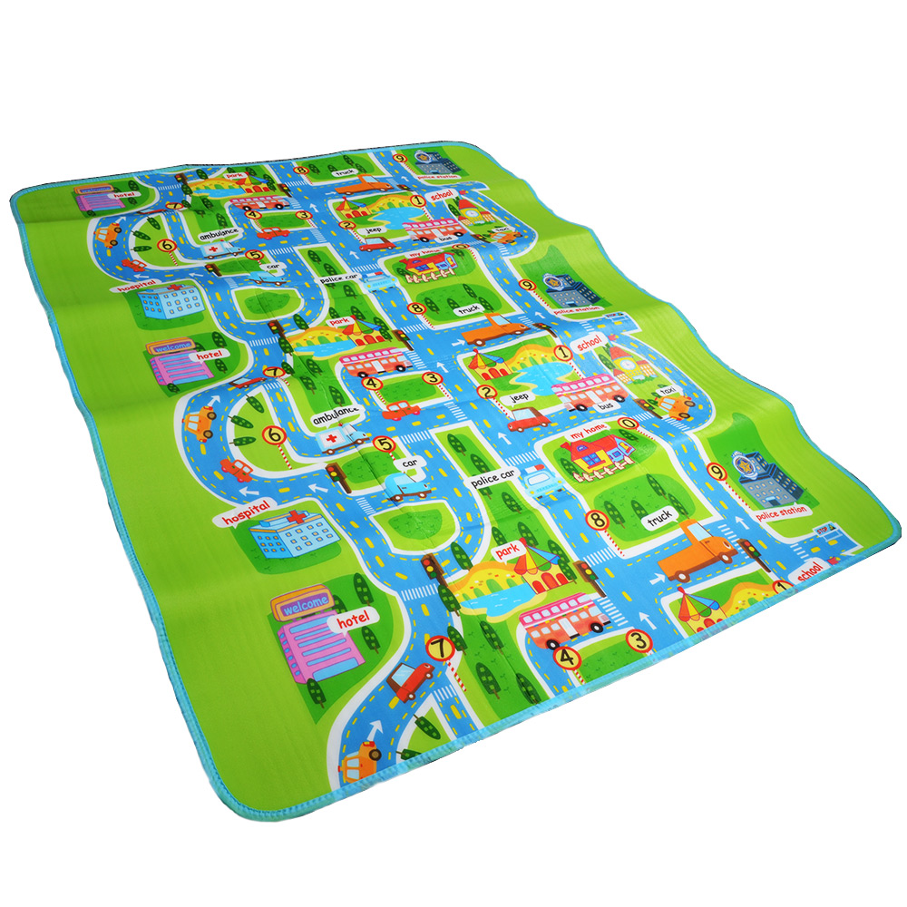 Road Traffic Play Mat -Kids Carpet Playmat Rug City Life Great For Playing With Cars and Toys - Play, Learn and Have Fun Safely dinosaur world jurassic park scene play mat kids