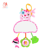 Baby Hanging Bed Bell, Rattles & Mobiles, Animal Doll BUYBUYGO Educational Toy Baby Distorting Mirror, Containing Teether