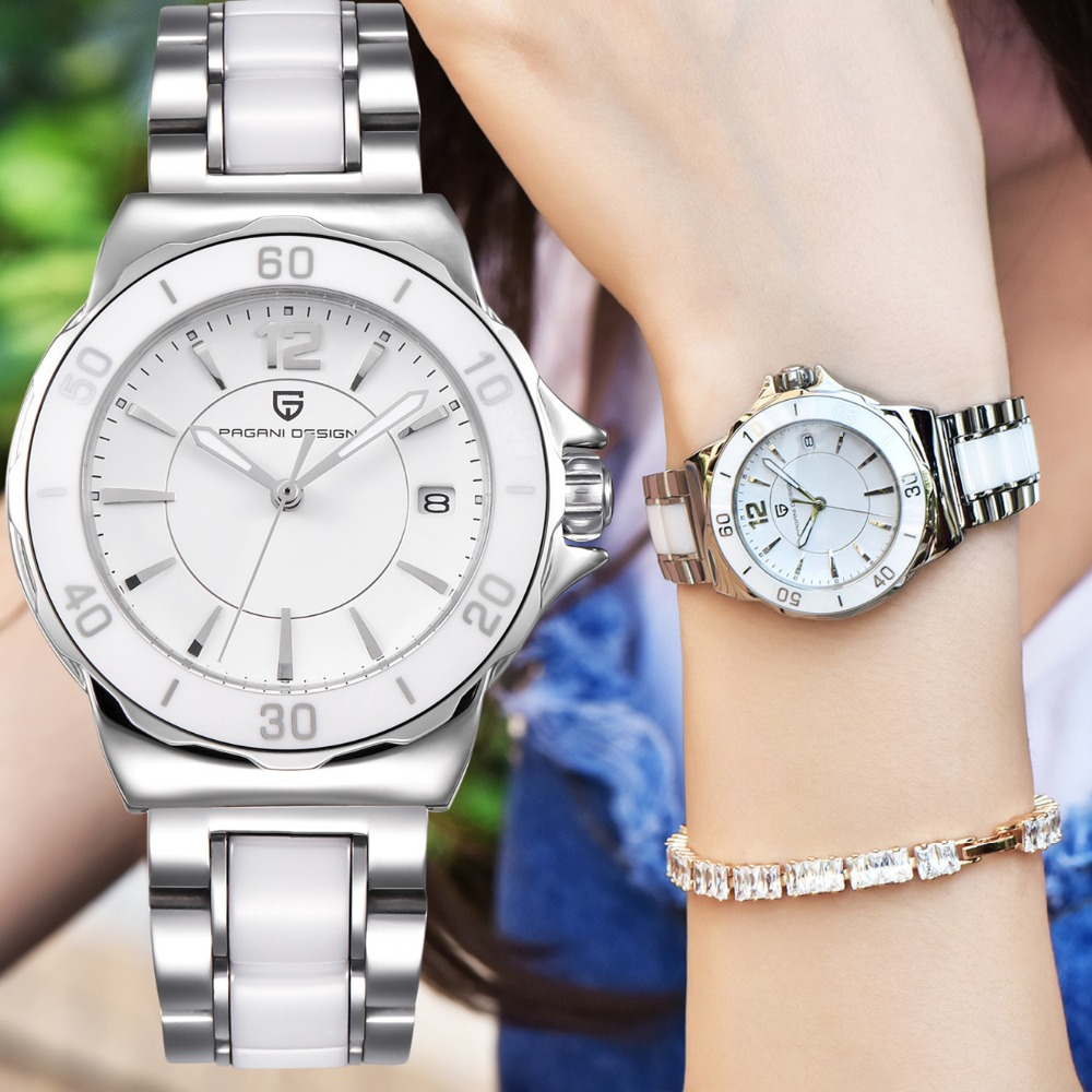 PAGANI DESIGN Luxury Brand Watch Reloj Mujer Ladies High Quality Ceramic Bracelet Women Famous Fashion Watches Relogio Feminino
