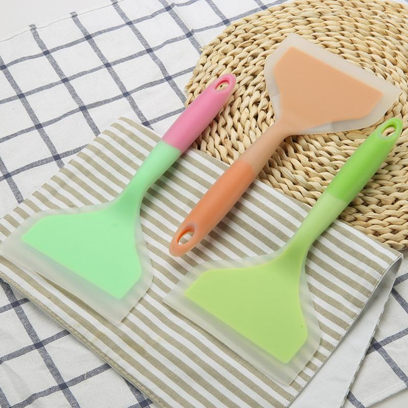 Baking Tools Silicone Spatula Pizza Turner with Hanging hole Egg Meat Scraper Non-Stick Wide Pizza Shovel Home Cookware Utensils