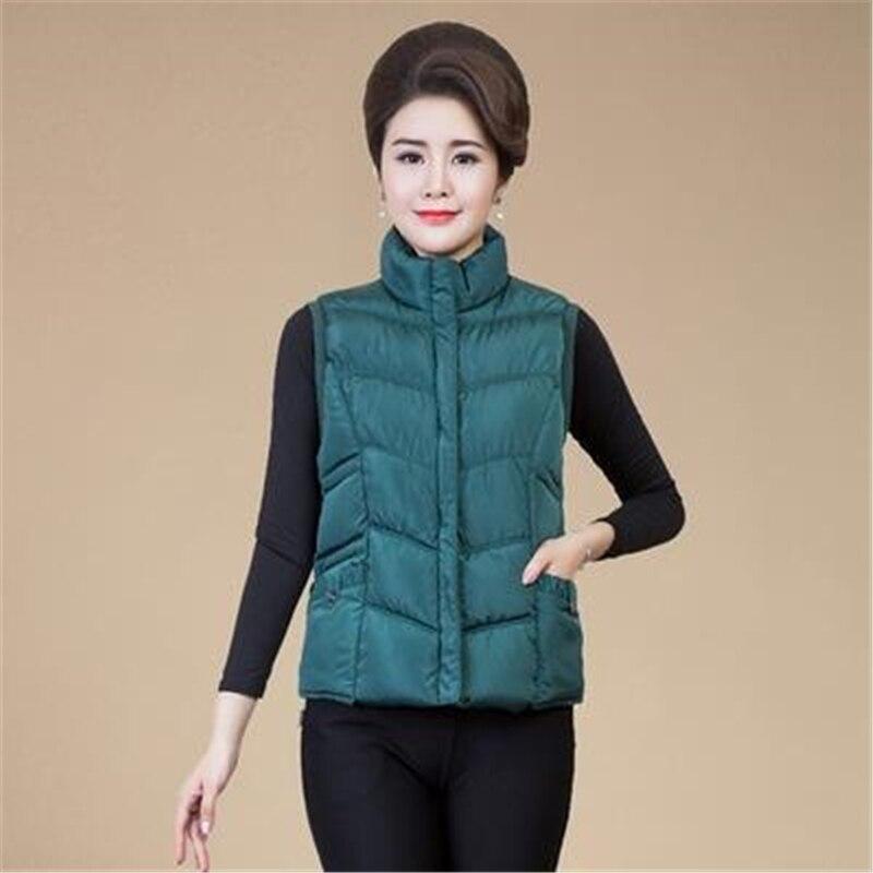 Woman Plus Size Spring Thick Down Vests Female Autumn