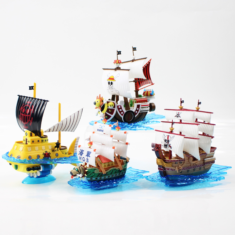 15-18cm One Piece  Boat Pirate Toy