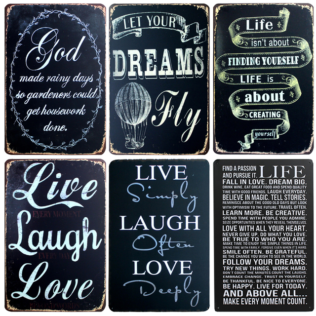 Good Hot Live U0026 Love Band Chic Home Bar Vintage Metal Signs Home Decor Vintage Tin  Signs
