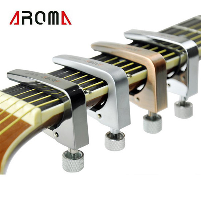 Brand New Aroma AC-11 Guitar Capo Zinc Alloy for Acoustic Electric Guitars 4 Colors Guitar Parts and Accessories alloy classical guitar capo black silver