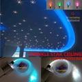 RGBW LLEVÓ la Estrella Del Centelleo Luz de Techo Kit de Control remoto de RF con Cable de fibra 150 unids 0.75mm + 20 unids 1mm Fibra + 20 unids Cristales