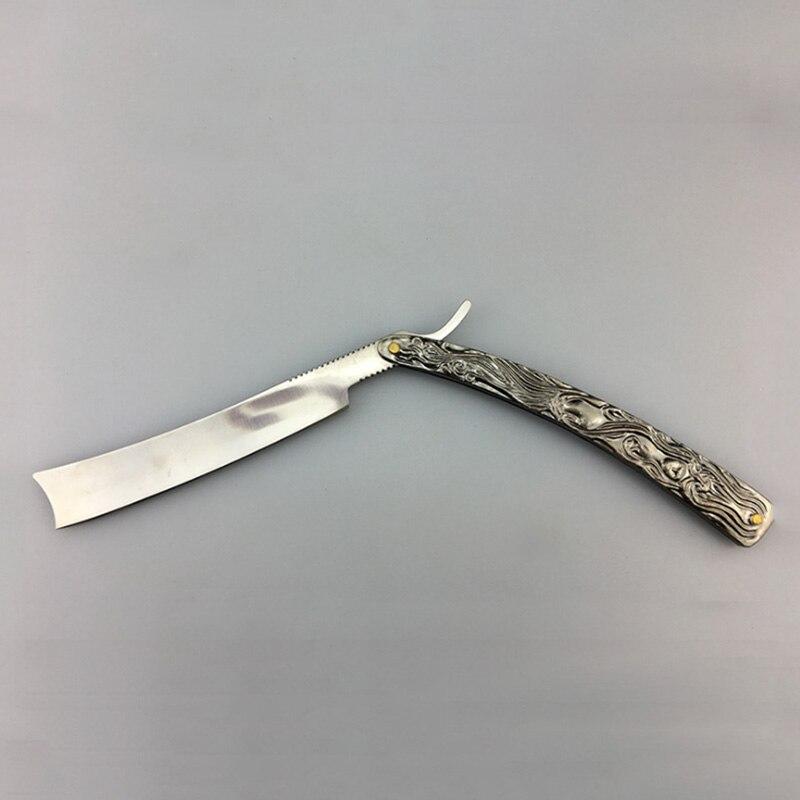 Classic Design Men Professional Stainless Steel Manual Shaver Barber Razor Foldable Salon Beard Straight Edge Cutter Aluminum