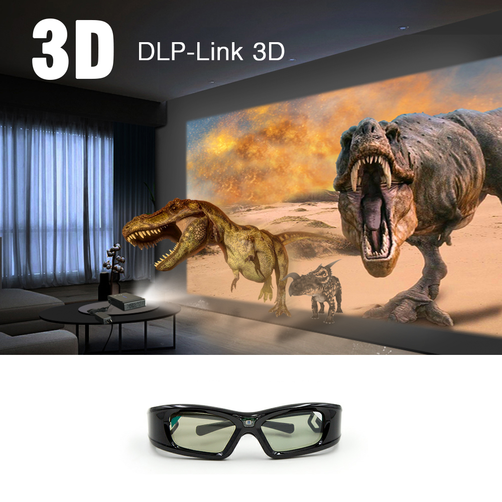 Image 4 - BYINTEK Luxury Active DLP Link Shutter 3D Glasses GL410 for BYINTEK DLP 3D Projector UFO R15 R9 R7 P12-in Projector Accessories from Consumer Electronics