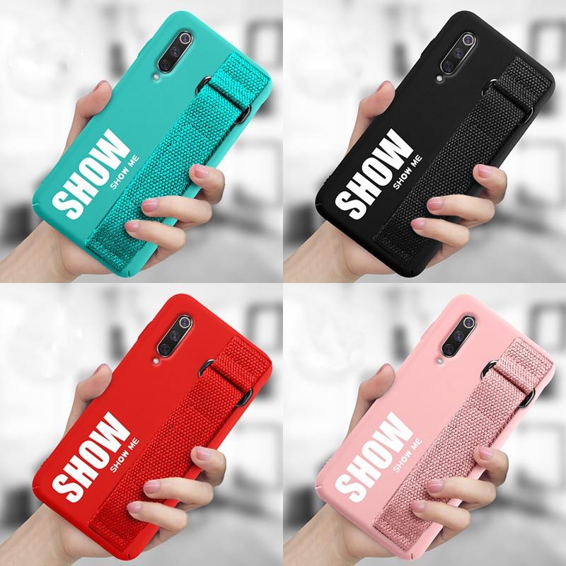 HTB11XEFLCzqK1RjSZFjq6zlCFXa4 For Xiaomi Mi 9T 9 SE 8 Lite Pro 6 6X A2 A1 Note 10 Max 2 3 Mix 2S CC9 CC9E Redmi K20 Case Silicon Matte Cover Hand Strap Funda