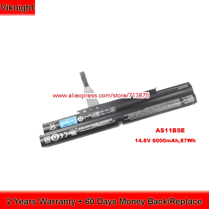 Original AS11B5E Battery For Acer Aspire Ethos 5951 5951G 8951G-2638G1TBnkk 8951G-9480 6000mAh 87Wh ступень del conca ethos hard gradone lineare chocolat 30x33