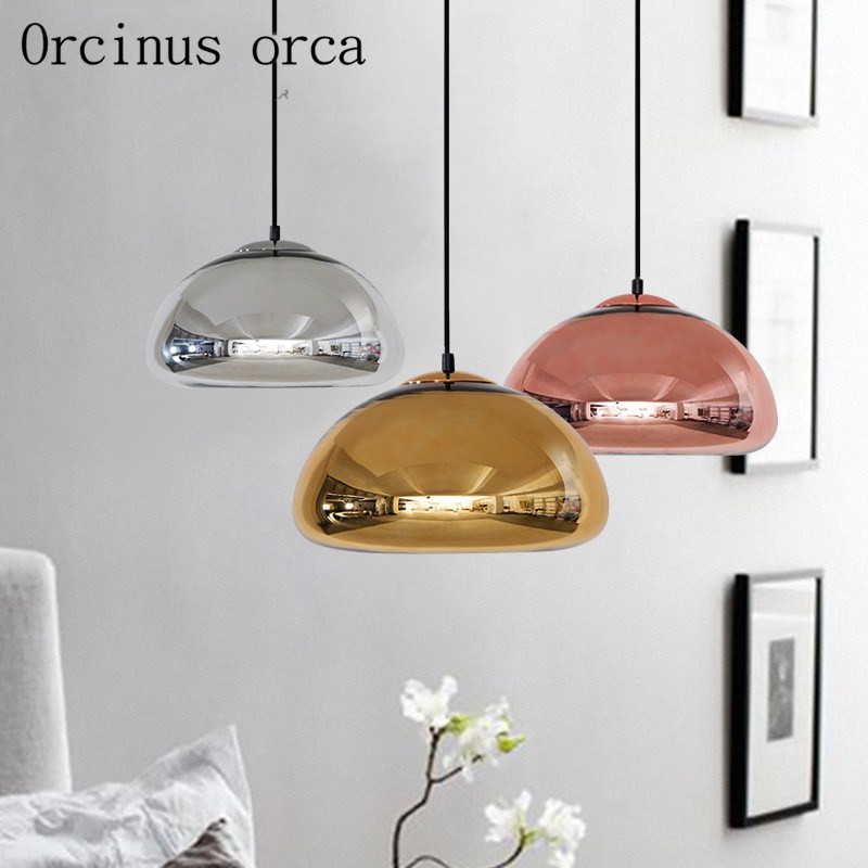 Nordic Glass Chandelier Modern Simple Personality Bar Coffee Shop Postage Free