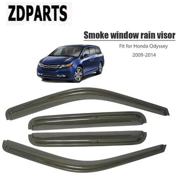 ZDPARTS 4pcs/set Car Wind Deflector Sun Guard Rain Wind Vent Visor Cover Trim For Honda Odyssey 2009 2010 2011 2012 2013 2014