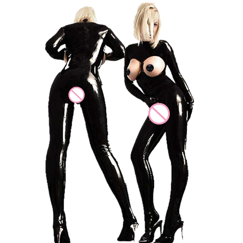 Buy Fetish Open Bra Open Crotch Club Queen Pole Dance Latex Clothing Full Body Cupless Crotchless Latex Bodysuit Stripper Clothes