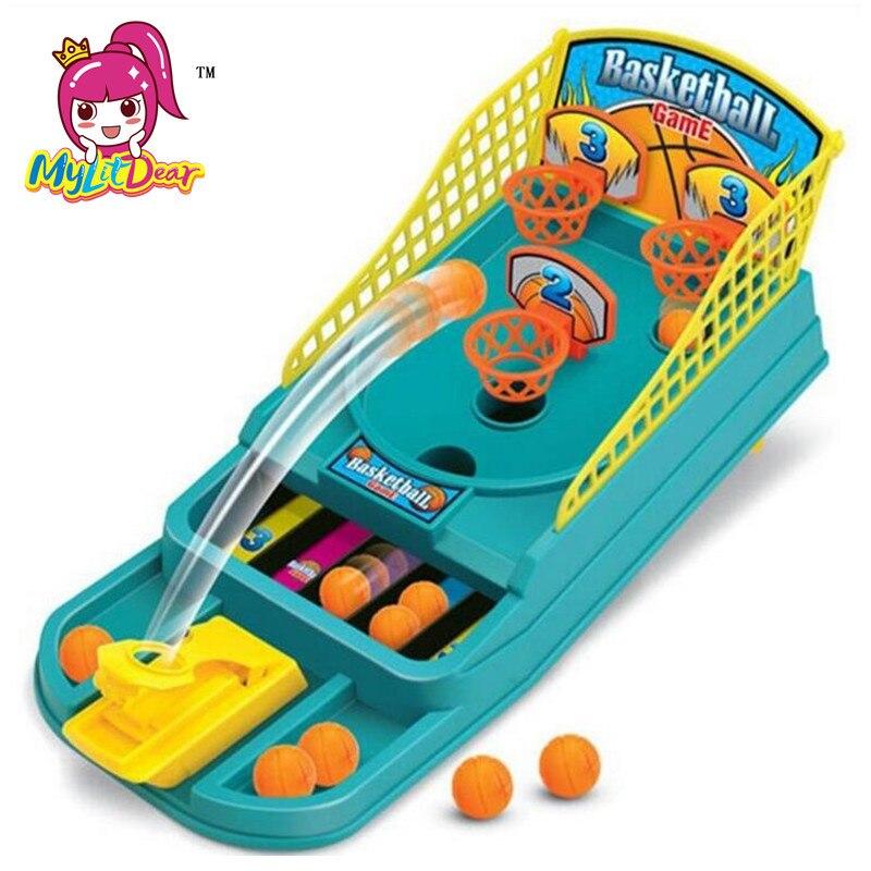 2017 Mini Basketbal Spel Tafel Play Toys Familie Sport Thuis Speelgoed Ballen Basketbal Schieten Machines Plastic Kantoor Game Toys