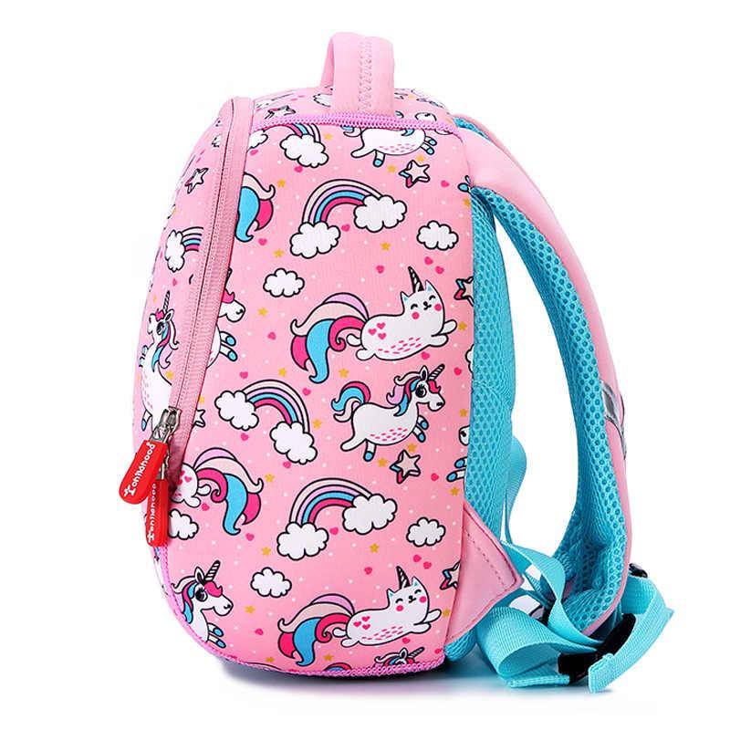a7c46eee87 ... Pink Unicorn School Bags For Girls Kid Backpacks Kindergarten Backpack  Animals Design Kids Small Bag Mochila