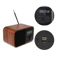 OOTDTY Alarm Clock Bluetooth Speaker FM Radio Support Multifunctional Time Display