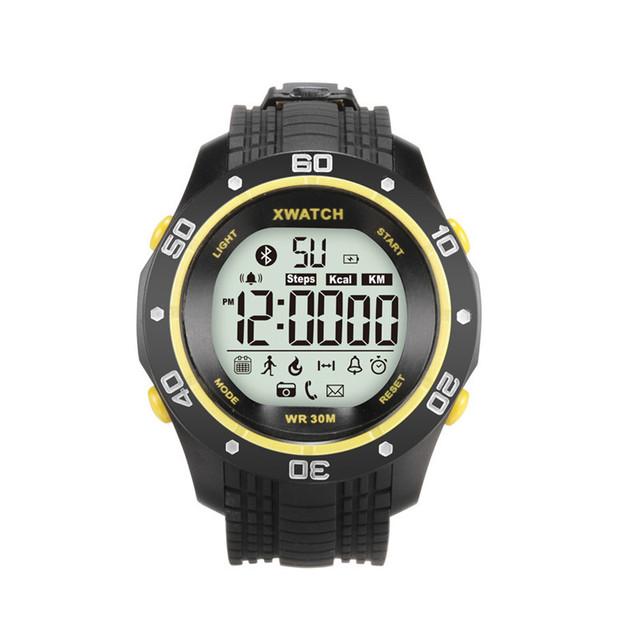 Original xwatch desporto ao ar livre smart watch waterproof noite visível aplicativo pedômetro monitor de sono para ios android bluetooth 4.0