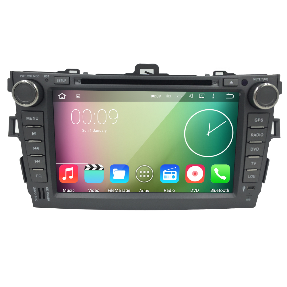 8 Android 5 1 OS CAR DVD Player for Toyota Corolla 2006 2011 GPS Nav Radio