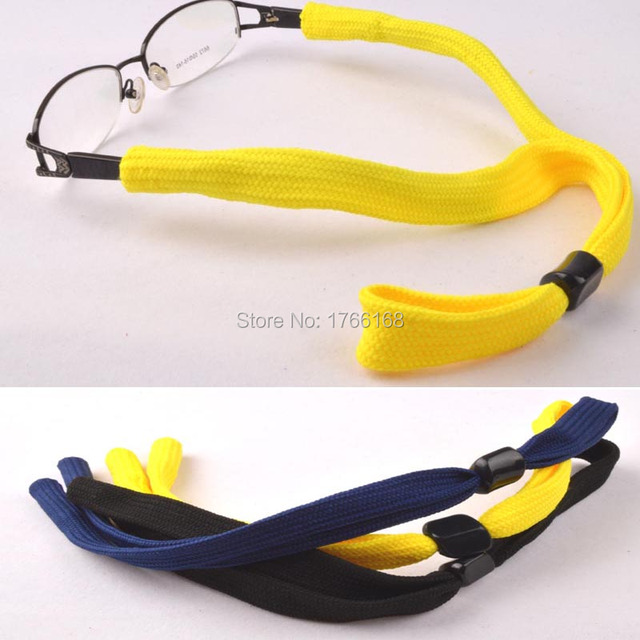 77d416155805 Wholesale 20pcs Outdoor Cotton Sport Sunglasses Reading Glasses Eyeglasses  cord holder chain String 3colors option