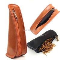 Firedog draagbare lederen enkele pijp bag holder pijp pouch case + tabakszak