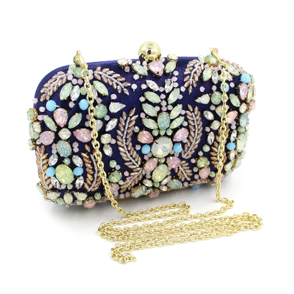 Ladies colorful Crystal Evening Clutch Bag Rhinestones Bridal Wedding Clutches Purse Women Party Mini Dinner Handbags crystal rhinestones women evening clutch bag bridal wedding clutches party dinner prom chain shoulder handbag purse