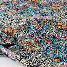 Robe en cachemire ethnique 50cm x 140cm, matériau en coton, tissu bohème, motif Floral, popeline et rayonne