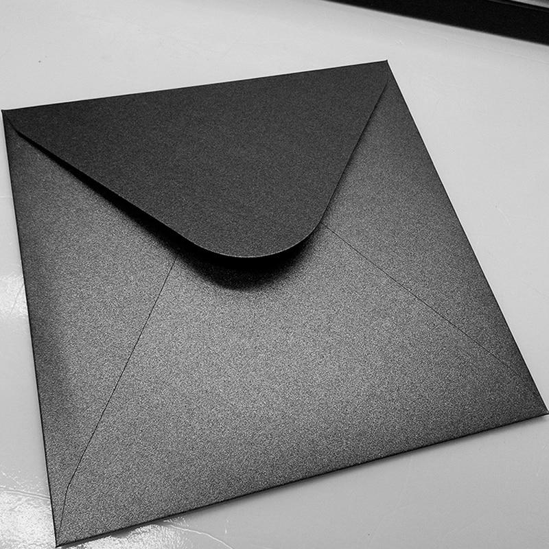 250g Pearl Paper High-End Square Envelope Wedding Business Invitation Decoration Gift Envelope Supply 5pcs/lot 16*16cm