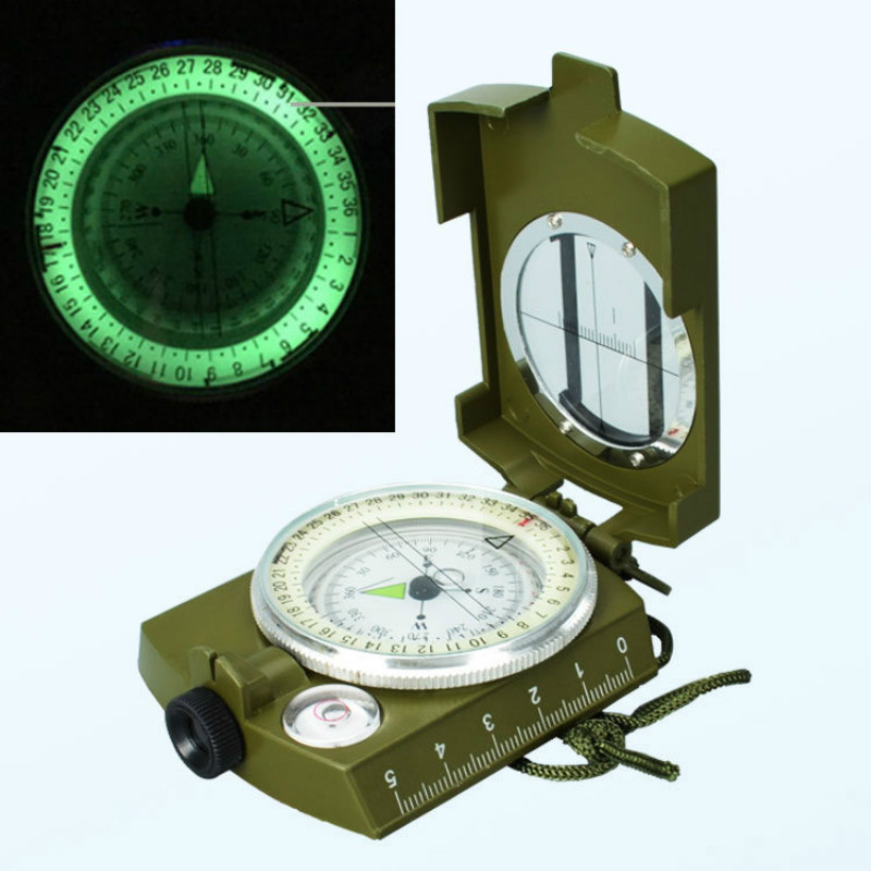 Waterproof Survival Military Compass Hiking Camping Army Pocket Military Lensatic Compass Handheld Military Equipment